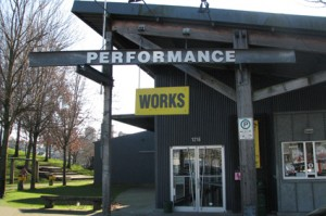 Performance Works, one of the two stages on Granville Island showcasing improv during VIIF 2014.